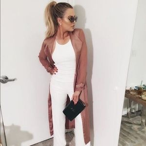 Authentic House of CB Brown Rose-Gold Duster mesh